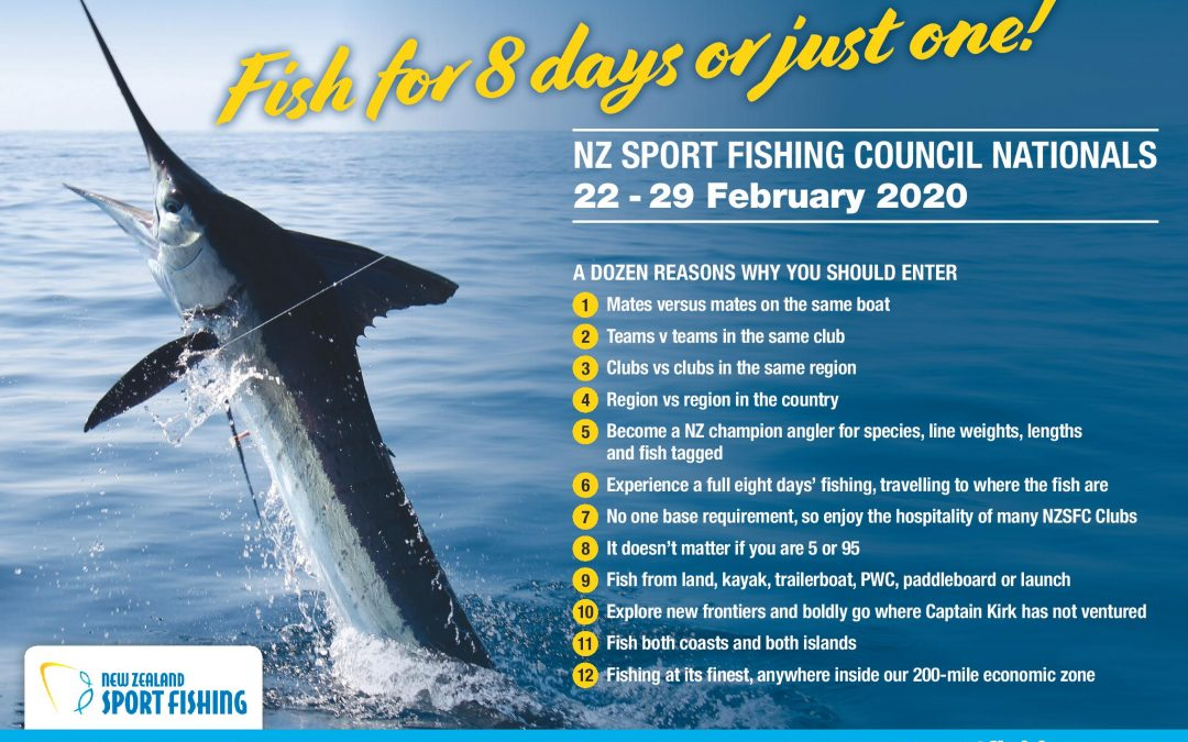 NZ Sport Fishing Council Nationals 2020